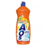 Средство для мытья посуды Aos 1л, апельсин/мята