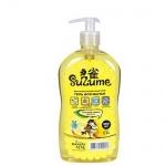 Средство для посуды и детских принадлежностей Suzume 560мл, сладкий лимон, гель