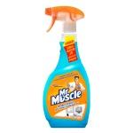Чистящее средство Мистер Мускул Профессионал 500мл, с нашатырным спиртом, спрей, синий, универсальный