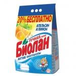 Стиральный порошок Биолан 2.4кг, апельсин и лимон, ручная стирка