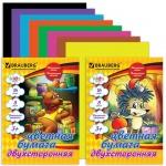 Цветная бумага Brauberg Kids Series 8 цветов, А4, 16 листов, двухсторонняя