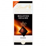 Шоколад Lindt Lindor, темный с кунжутом