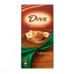 Шоколад Dove. 90г с фундуком, молочный