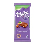 Шоколад Milka, 90г, с цельным фундуком
