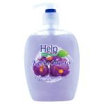 Жидкое крем-мыло Help 500мл, фиалка, с антибактериальным эффектом, с дозатором