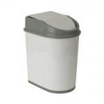 Контейнер для мусора М-Пластика 5л, ассорти, с качающейся крышкой, М 2480