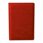 Ежедневник недатированный Attache Сиам красный, А5, 176 листов, искусственная кожа