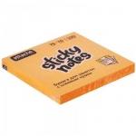 Блок для записей с клейким краем Attache оранжевый, неон, 76х76мм, 100 листов