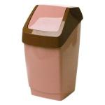 Контейнер для мусора М-Пластика Хапс 25л, бежевый, с качающейся крышкой, М 2472