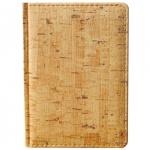 Ежедневник недатированный Attache Корк бежевый, А6, 176 листов, искусственная кожа