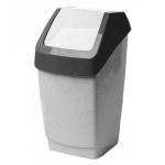 Контейнер для мусора М-Пластика Хапс 7л, с качающейся крышкой, М 2470