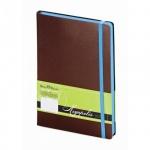 Ежедневник недатированный Bruno Visconti Megapolis Soft коричневый, А5, 136 листов, искусственная ко