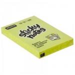 Блок для записей с клейким краем Attache желтый, неон, 51x76мм, 100 листов