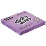 Блок для записей с клейким краем Attache фиолетовый, неон, 76х76мм, 100 листов