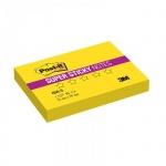 Блок для записей с клейким краем Post-It Super Sticky желтый, неон, 51x76мм, 90 листов, 656-S