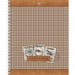 Тетрадь общая Hatber Шотландка, А5, 48 листов, в клетку, на спирали, мелованный картон