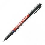 Маркер для пленок перманентный Edding 141F, 0.6мм, круглый наконечник, для деликатных гладких поверхностей, черный