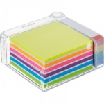 Блок для записей с клейким краем Attache набор с закладками 6 цветов, неон, 90х90мм