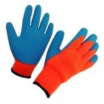Перчатки защитные безразмерные 1 пара, синий/красный, акрил/латексное покрытие, для работы при низких температурах