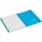Тетрадь общая Attache Office Creative голубая, А5, 80 листов, в клетку, на спирали, пластик, 4 разде