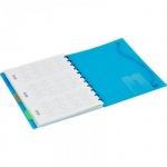 Тетрадь общая Attache Office Creative, А5, 80 листов, в клетку, на спирали, пластик, 4 разделителя