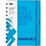 Тетрадь общая Attache Office Creative голубая, A4, 80 листов, в клетку, на спирали, пластик