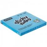 Блок для записей с клейким краем Attache голубой, неон, 76х76мм, 100 листов