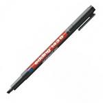 Маркер для пленок перманентный Edding 143В, 1-3мм, скошенный наконечник, для деликатных гладких поверхностей, черный