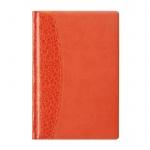 Ежедневник недатированный Attache оранжевый, А5, 176 листов, искусственная кожа