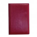 Ежедневник недатированный Attache Небраска бордовый, А5, 176 листов, искусственная кожа