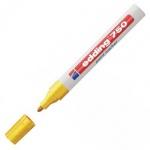 Маркер промышленный перманентный Edding 750, 2-4мм, универсальный, алюминиевый корпус, желтый