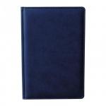 Ежедневник недатированный Attache Сиам синий, А5, 176 листов, искусственная кожа