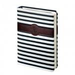 Ежедневник недатированный Infolio Regatta сине-белый, А6+, 160 листов, искусственная кожа