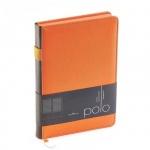 Ежедневник недатированный Bruno Visconti Polo оранжевый, А5, 160 листов, искусственная кожа