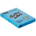 Блок для записей с клейким краем Attache голубой, неон, 51x76мм, 100 листов