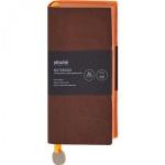 Ежедневник недатированный Attache Genua коричневый, А6, 112 листов, искусственная кожа