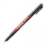 Маркер для пленок перманентный Edding 141F, 0.6мм, круглый наконечник, для деликатных гладких поверхностей, синий