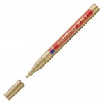 Маркер лаковый перманентный Edding 751 золотой, 1-2мм, круглый наконечник, универсальный