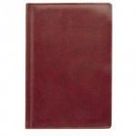 Ежедневник недатированный Attache Вива бордовый, А5, 176 листов, искусственная кожа