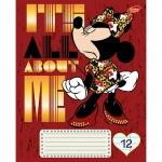 Тетрадь школьная Disney Minnie Mouse, А5, 12 листов, в линейку, на скрепке, мелованный картон