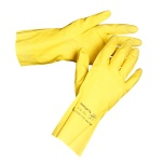 Латексные перчатки Ansell Эконохэндс р.M, 1 пара, желтые, латекс, 87-190