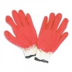 Перчатки трикотажные Noname 1 пара, белый/красный, латексное покрытие