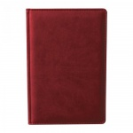 Ежедневник недатированный Attache Сиам бордовый, А6, 176 листов, искусственная кожа