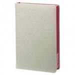 Ежедневник недатированный Infolio In my style серый, А5, 160 листов, искусственная кожа, бордовый ср