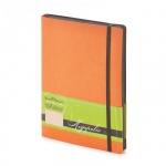 Ежедневник недатированный Bruno Visconti Megapolis Soft оранжевый, А5, 136 листов, искусственная кож