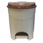 Контейнер для мусора с педалью М-Пластика 19л, бежевый, М 2892