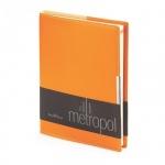 Ежедневник недатированный Bruno Visconti Metropol оранжевый, А5, 136 листов