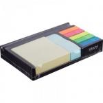 Блок для записей в подставке Attache набор с закладками черный, 16.6x10.6x2.7 см