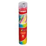 Набор цветных карандашей Kores 12 цветов, трехгранные, с точилкой, в тубусе, 93313