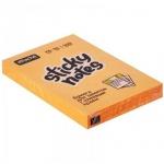 Блок для записей с клейким краем Attache оранжевый, неон, 51x76мм, 100 листов
